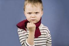 Ragazzo arrabbiato Fotografia Stock Libera da Diritti
