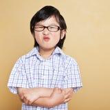 Ragazzo asiatico sveglio Fotografie Stock
