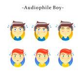 Ragazzo Audiophile royalty illustrazione gratis