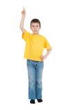 Ragazzo in camicia gialla Fotografia Stock Libera da Diritti