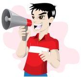 Ragazzo in camicia rossa Immagini Stock