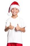 Ragazzo in cappello di Santa Fotografie Stock Libere da Diritti
