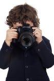 Ragazzo che cattura foto Fotografie Stock Libere da Diritti
