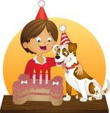 Il buon compleanno del cane Immagine Stock