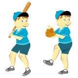Ragazzo che gioca baseball royalty illustrazione gratis