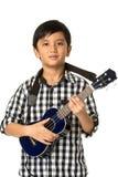 Ragazzo che gioca chitarra Fotografie Stock