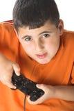 Ragazzo che gioca i giochi di computer Fotografia Stock Libera da Diritti