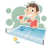 Ragazzo che gioca ping-pong Fotografie Stock Libere da Diritti