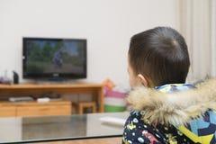 Ragazzo che guarda TV Fotografia Stock