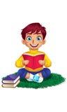 Ragazzo che legge un libro Illustrazione Vettoriale