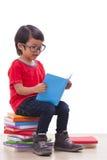 Ragazzo che legge un libro Fotografia Stock Libera da Diritti