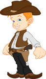 Ragazzo che porta il costume occidentale del cowboy Fotografie Stock Libere da Diritti