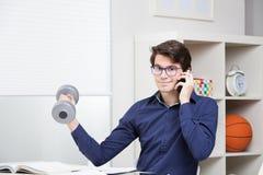Ragazzo che studia nella sua stanza Immagini Stock Libere da Diritti