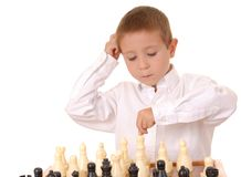 Ragazzo cinque di scacchi Fotografie Stock Libere da Diritti