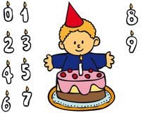 Ragazzo - compleanno Immagini Stock Libere da Diritti
