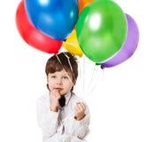 Ragazzo con i baloons fotografia stock libera da diritti
