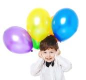 Ragazzo con i baloons fotografia stock