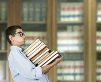 Ragazzo con i libri Fotografie Stock