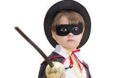 Ragazzo con il costume di carnevale Immagini Stock
