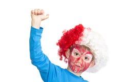 Ragazzo con il fronte verniciato fotografie stock libere da diritti