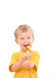 Ragazzo con il lollipop immagini stock libere da diritti