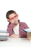 Ragazzo con la difficoltà di apprendimento Immagine Stock