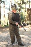 Ragazzo con la pistola di paintball Immagine Stock Libera da Diritti