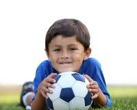 Ragazzo con la sfera di calcio Immagini Stock Libere da Diritti