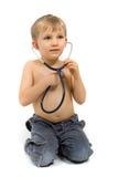 Ragazzo con lo stetoscopio Immagine Stock Libera da Diritti
