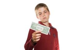 Ragazzo con soldi Fotografie Stock Libere da Diritti
