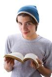 Ragazzo con un libro 2 Fotografia Stock Libera da Diritti