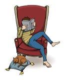 Ragazzo con un libro Royalty Illustrazione gratis