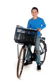 Ragazzo con una bici immagine stock libera da diritti