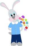 ragazzo coniglietto isolato Fotografie Stock