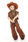 Ragazzo in costume del cowboy Fotografia Stock