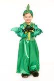 Ragazzo in costume del drago immagine stock