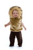 Ragazzo in costume del leone Fotografia Stock Libera da Diritti