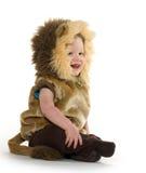 Ragazzo in costume del leone Immagine Stock