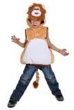 Ragazzo in costume del leone Immagini Stock