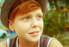 Ragazzo dai capelli dei capelli rossi Fotografie Stock Libere da Diritti