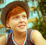 Ragazzo dai capelli dei capelli rossi Fotografia Stock