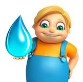 Ragazzo del bambino con goccia di acqua Fotografia Stock