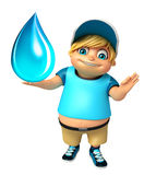 Ragazzo del bambino con goccia di acqua Fotografia Stock Libera da Diritti