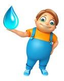 Ragazzo del bambino con goccia di acqua Fotografie Stock Libere da Diritti
