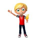 Ragazzo del bambino con Juice Glass Immagini Stock