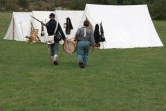 Ragazzo del batterista di guerra civile Fotografia Stock