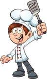 Ragazzo del cuoco unico Fotografia Stock