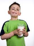Ragazzo del latte Fotografia Stock Libera da Diritti