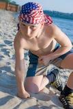 Ragazzo del muscolo Fotografia Stock Libera da Diritti