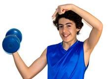 Ragazzo del muscolo fotografie stock